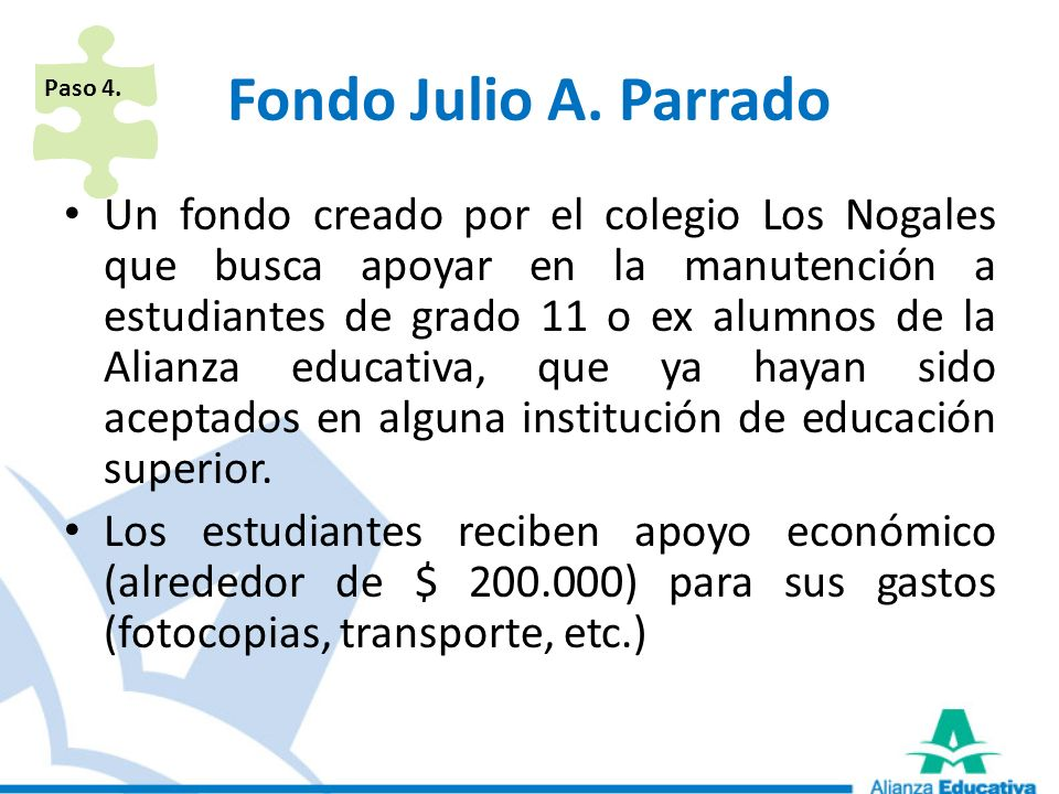 Paso 4. Fondo Julio A. Parrado.