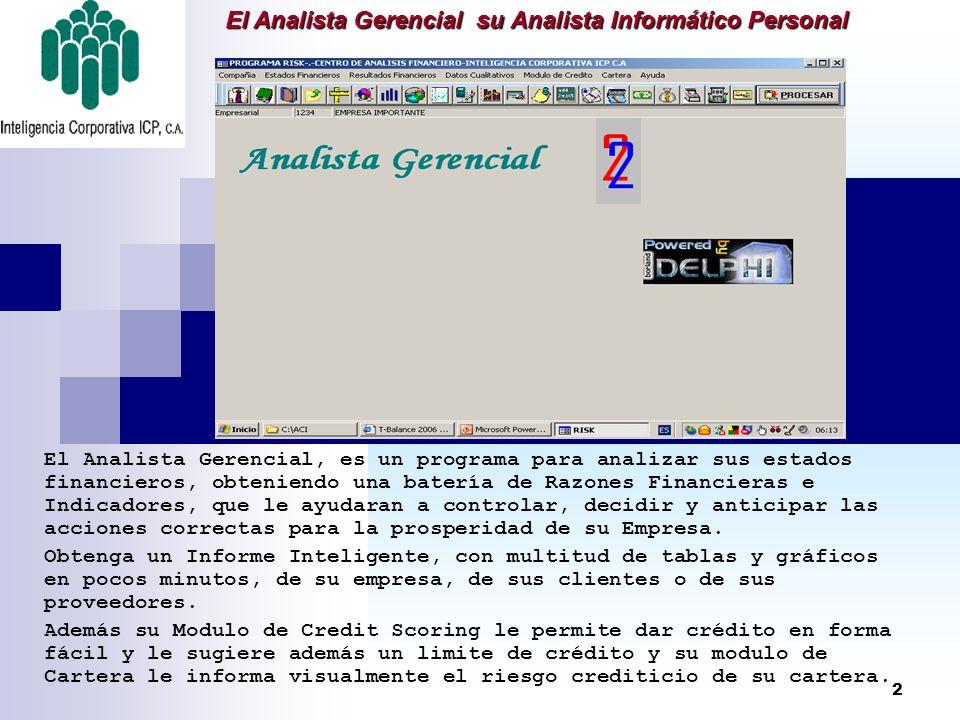 El Analista Gerencial su Analista Informático Personal