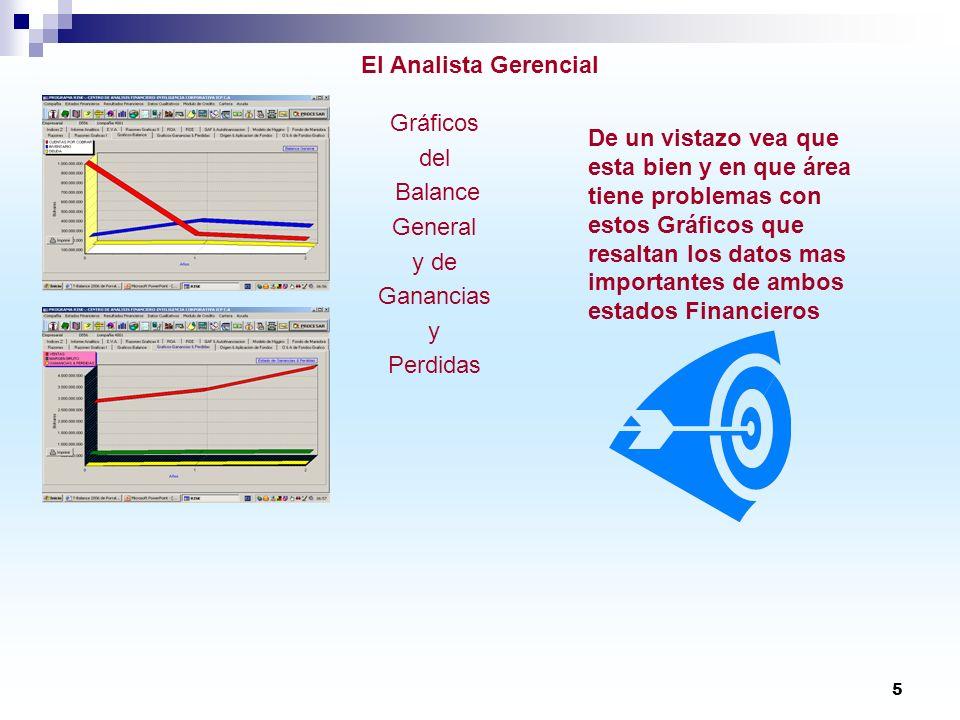El Analista Gerencial Gráficos. del. Balance. General. y de. Ganancias. y. Perdidas.