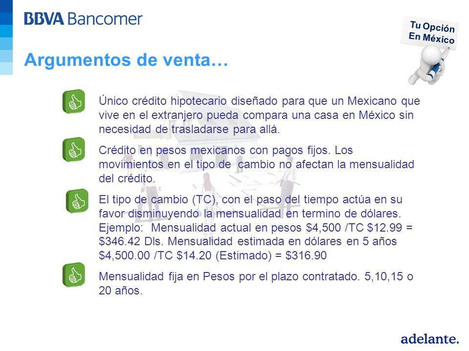 Tu Opción En México. Argumentos de venta…