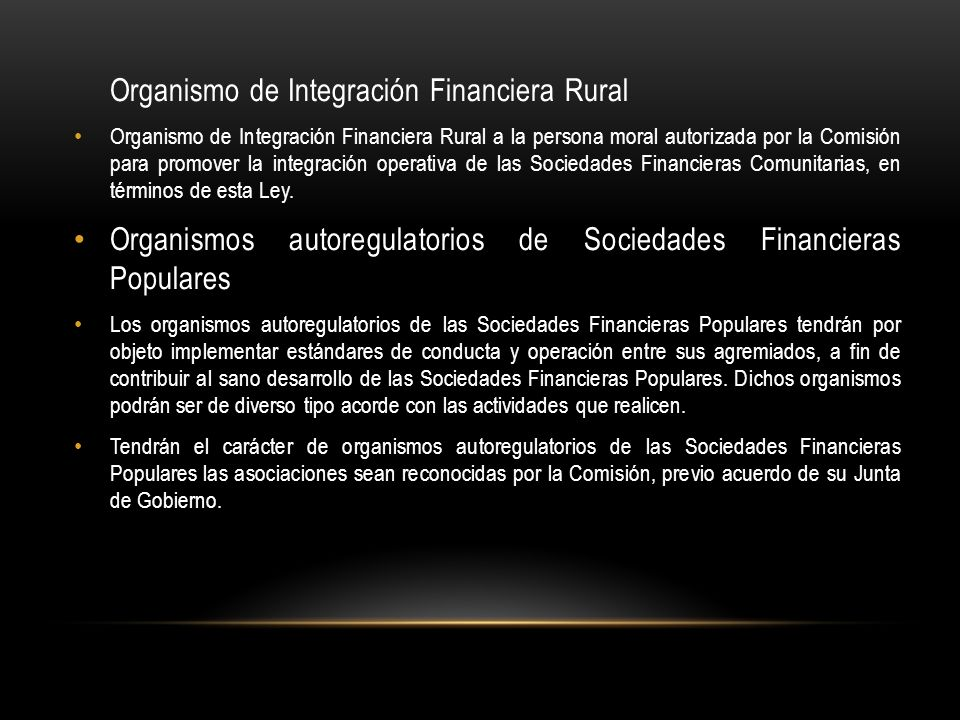 Organismo de Integración Financiera Rural