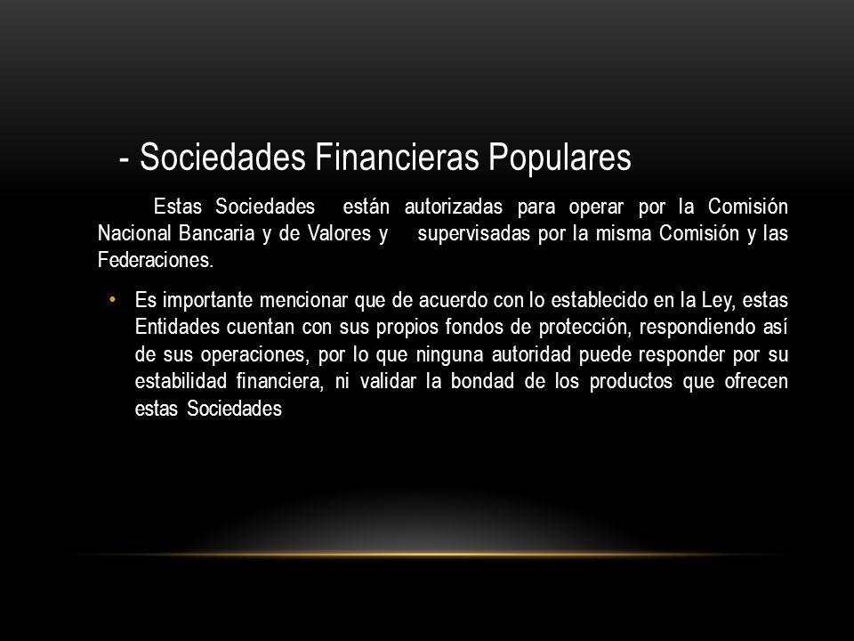 - Sociedades Financieras Populares