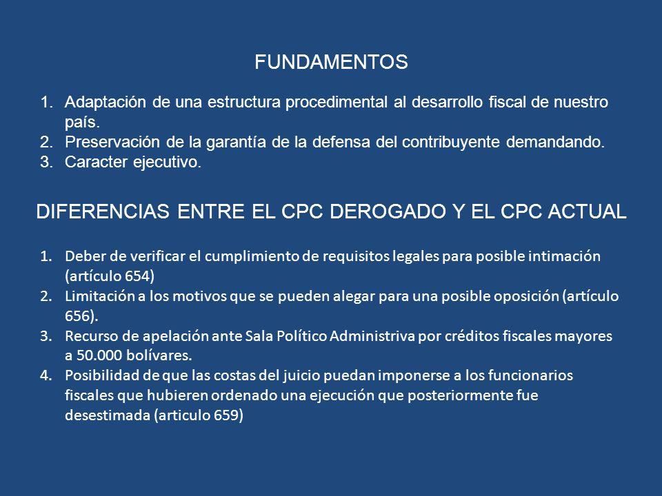 DIFERENCIAS ENTRE EL CPC DEROGADO Y EL CPC ACTUAL