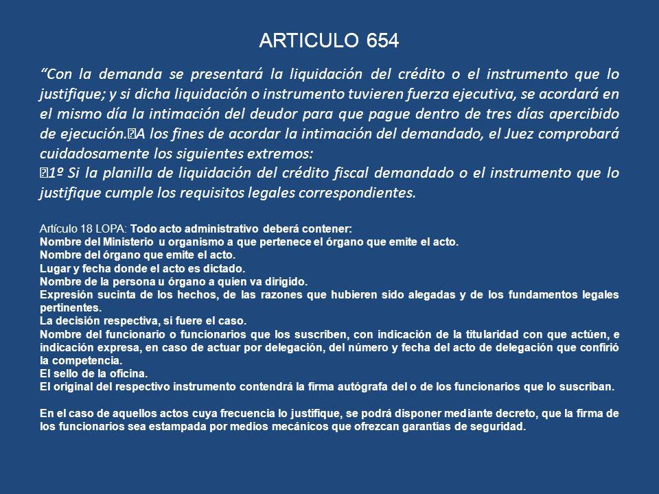 ARTICULO 654