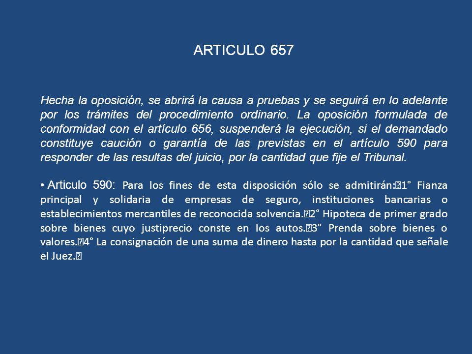 ARTICULO 657