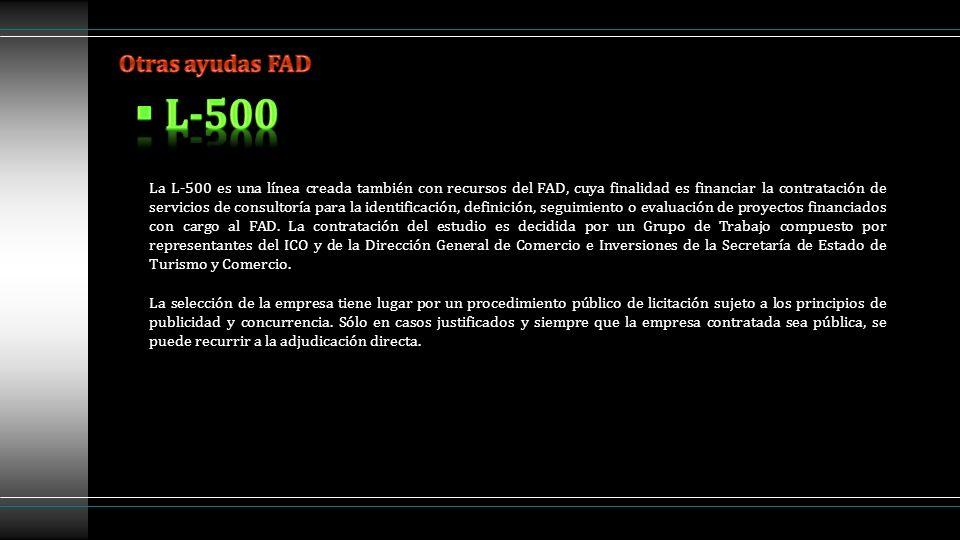 Otras ayudas FAD L-500.