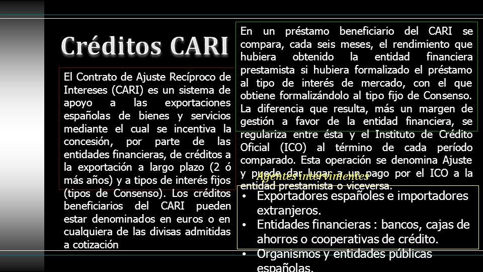 Créditos CARI Agentes intervinientes