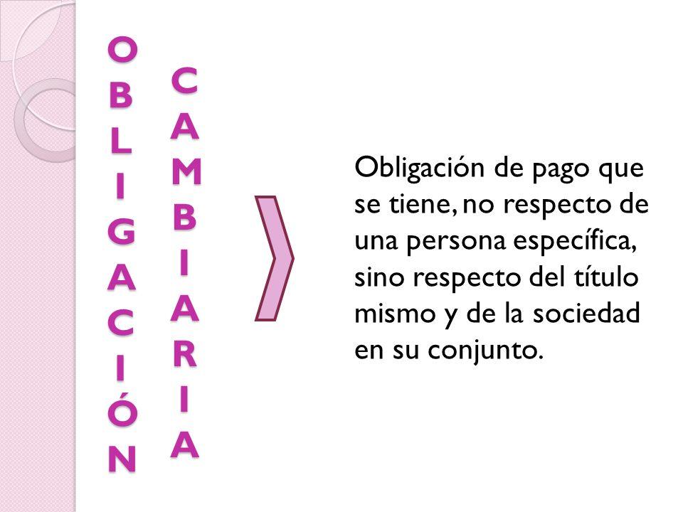 OBL IGACIÓN CAMBIARIA.