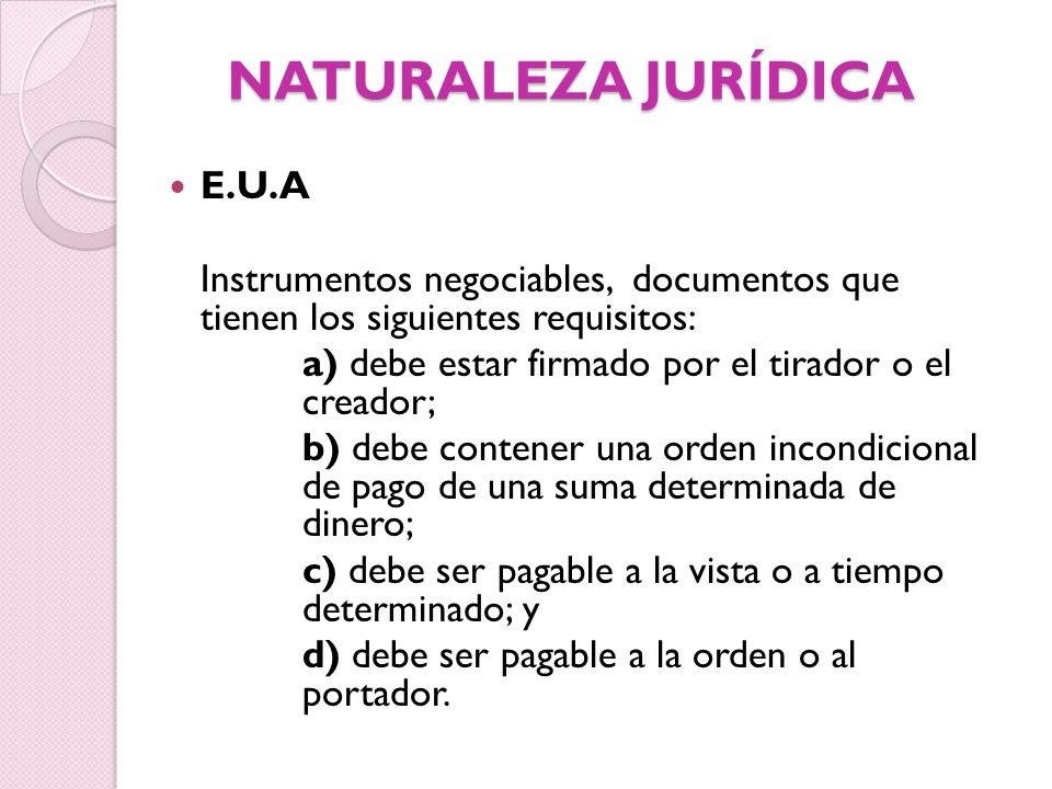 NATURALEZA JURÍDICA E.U.A