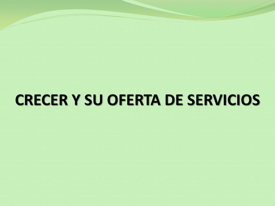CRECER Y SU OFERTA DE SERVICIOS