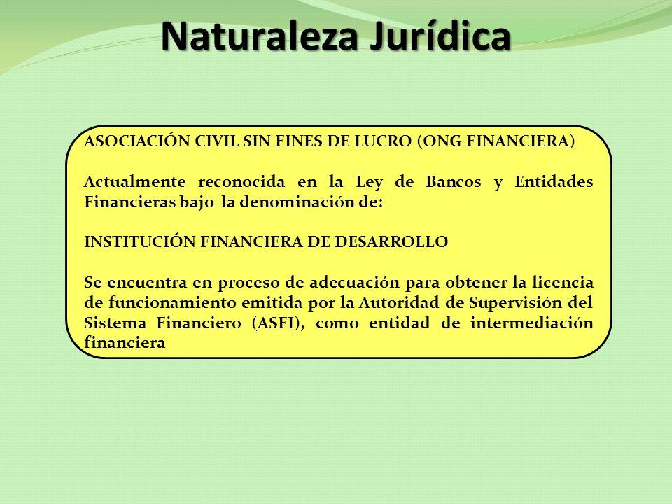 Naturaleza Jurídica ASOCIACIÓN CIVIL SIN FINES DE LUCRO (ONG FINANCIERA)