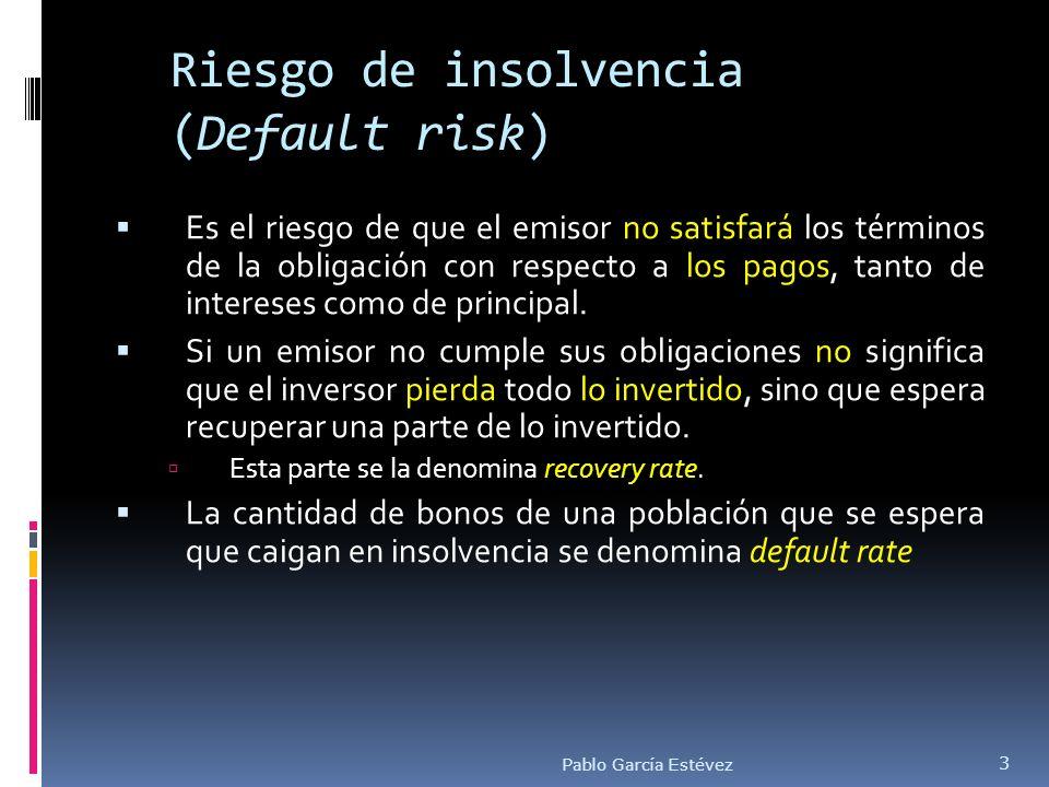 Riesgo de insolvencia (Default risk)