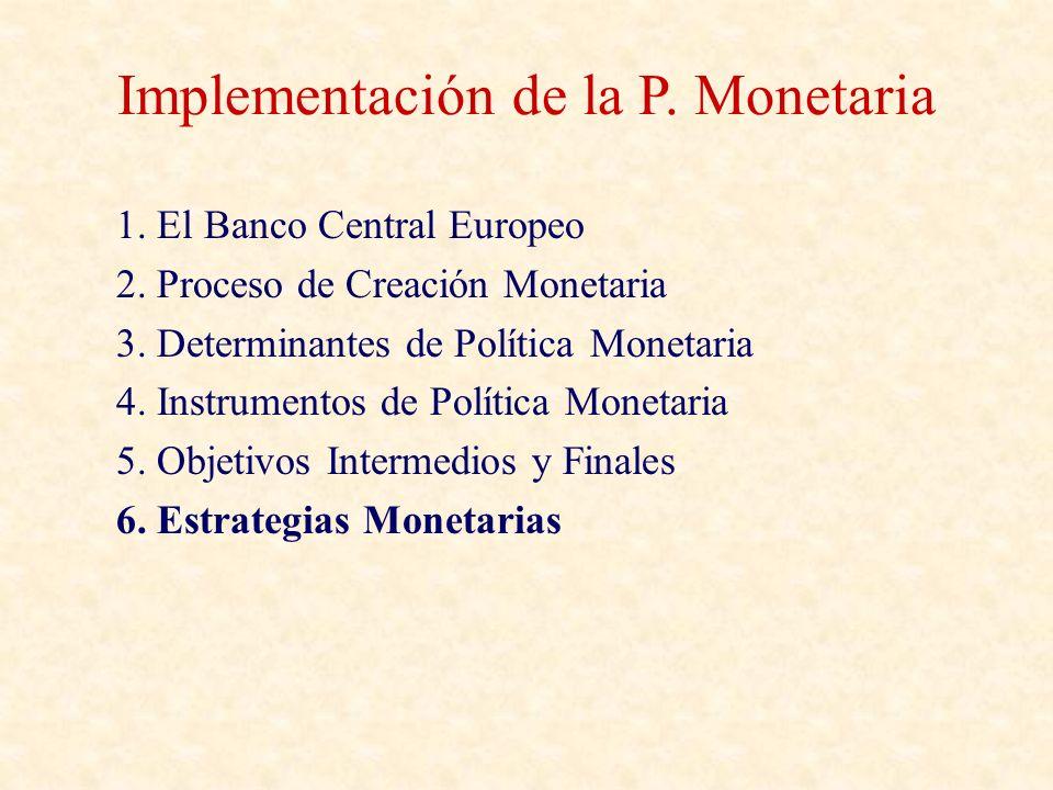 Implementación de la P. Monetaria