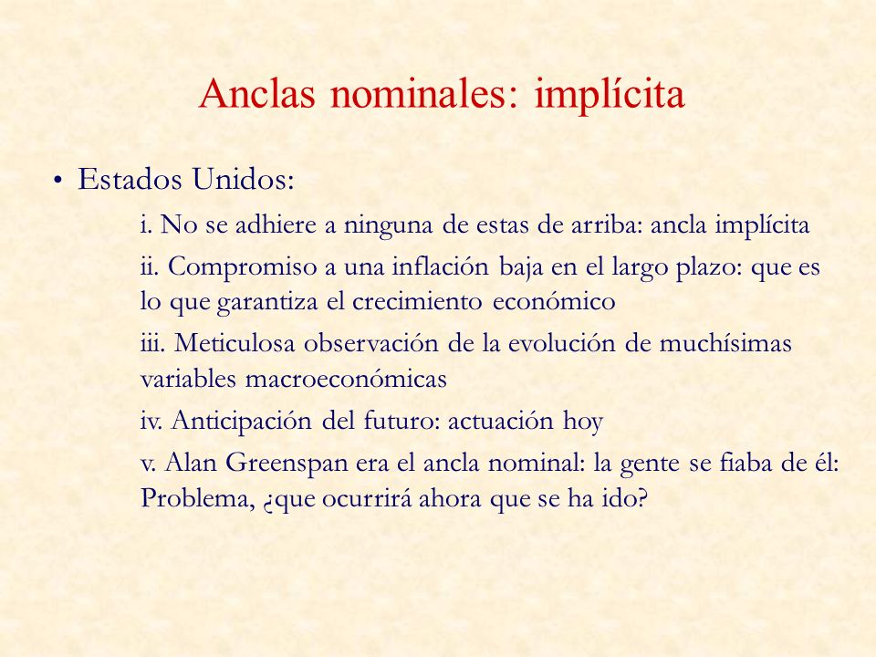 Anclas nominales: implícita