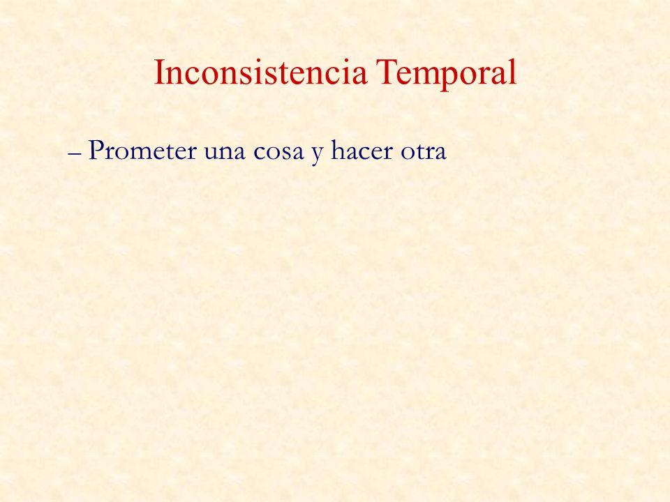 Inconsistencia Temporal