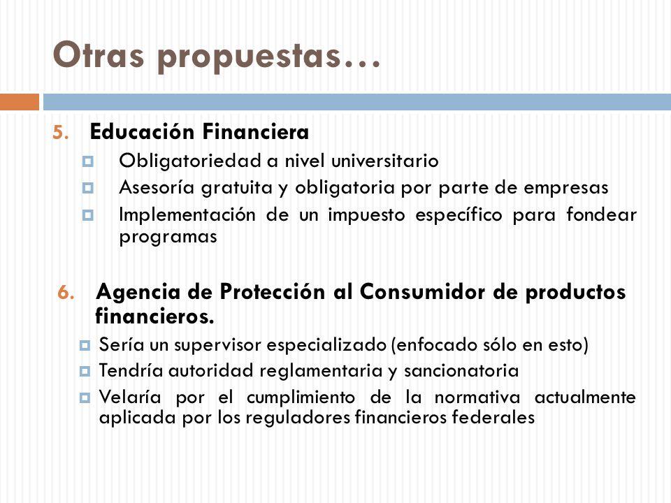 Otras propuestas… Educación Financiera