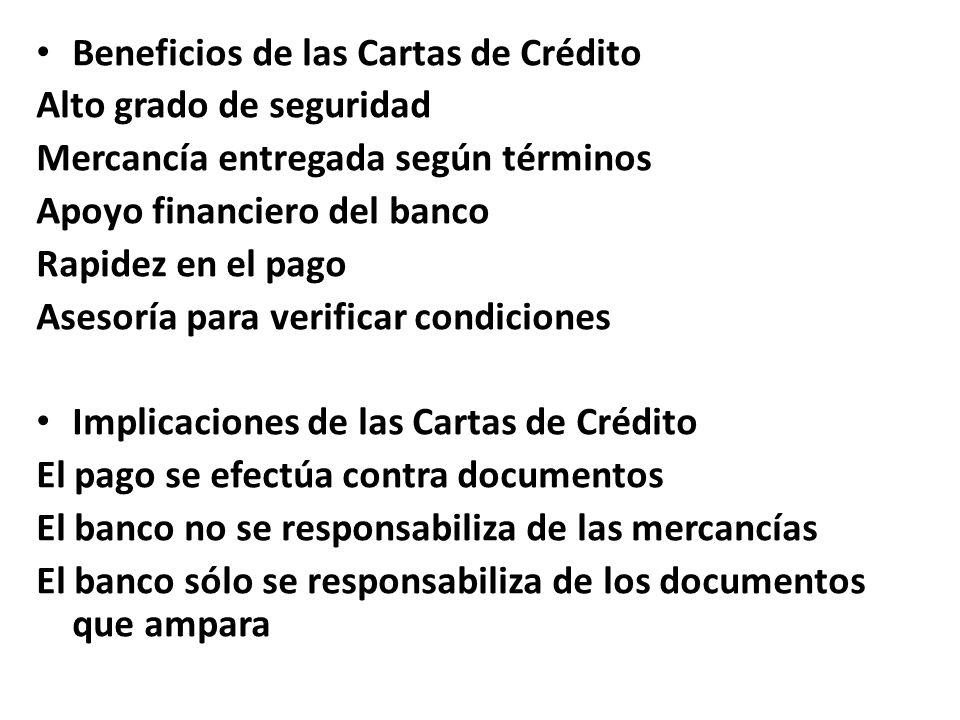 Beneficios de las Cartas de Crédito