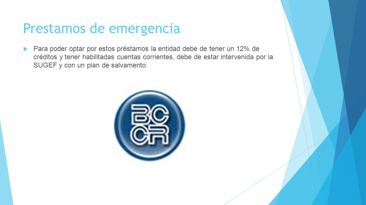 Prestamos de emergencia