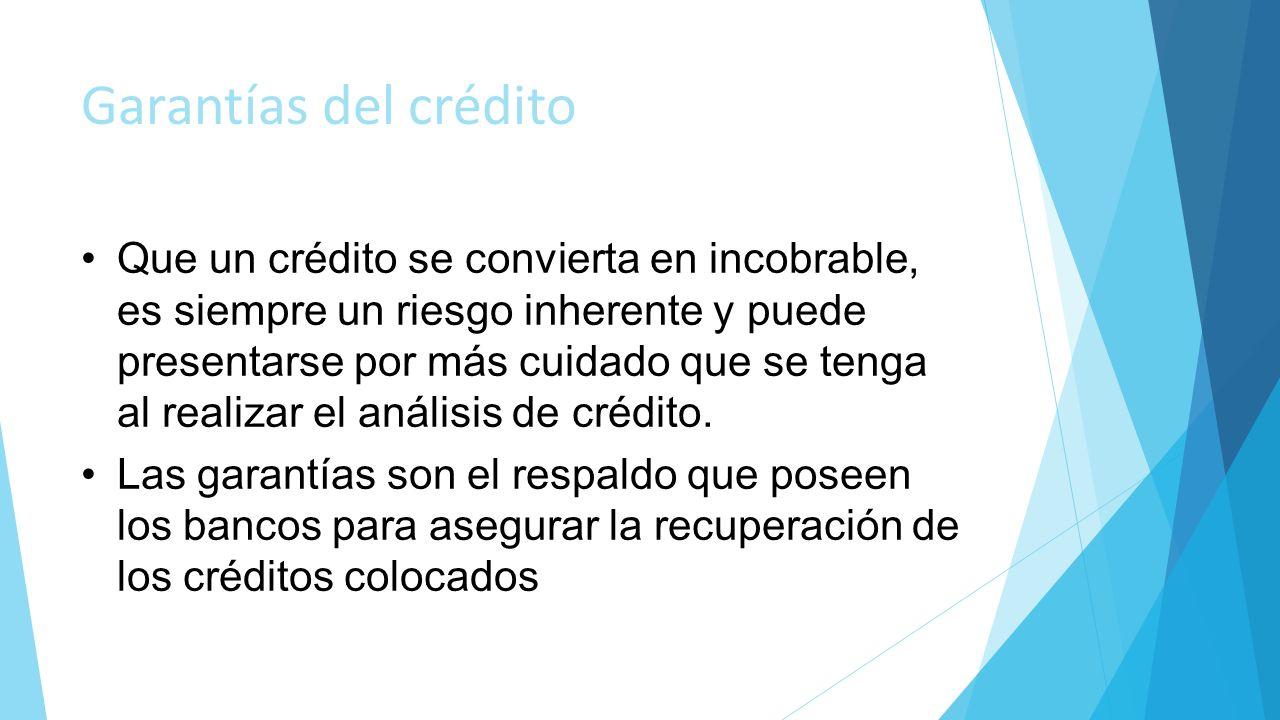Garantías del crédito