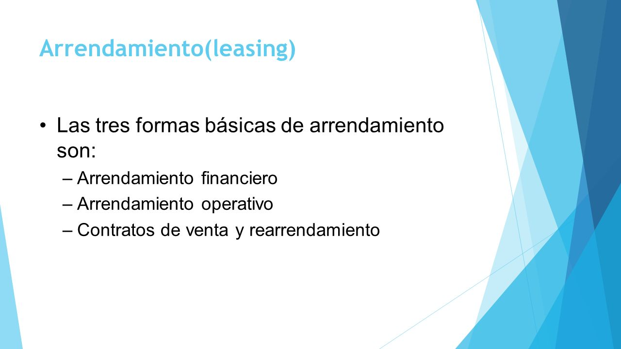 Arrendamiento(leasing)