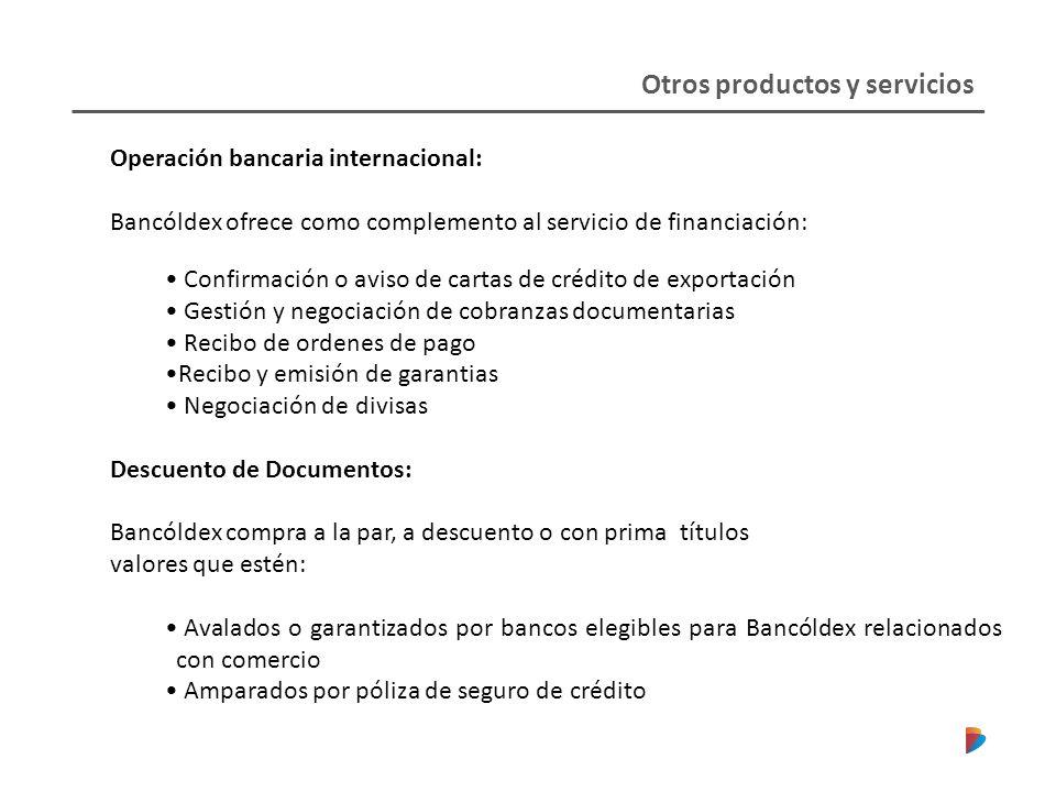 Otros productos y servicios