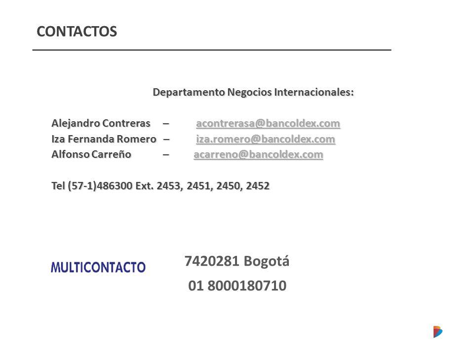 Departamento Negocios Internacionales: