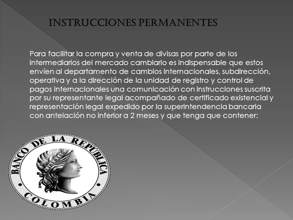 INSTRUCCIONES PERMANENTES