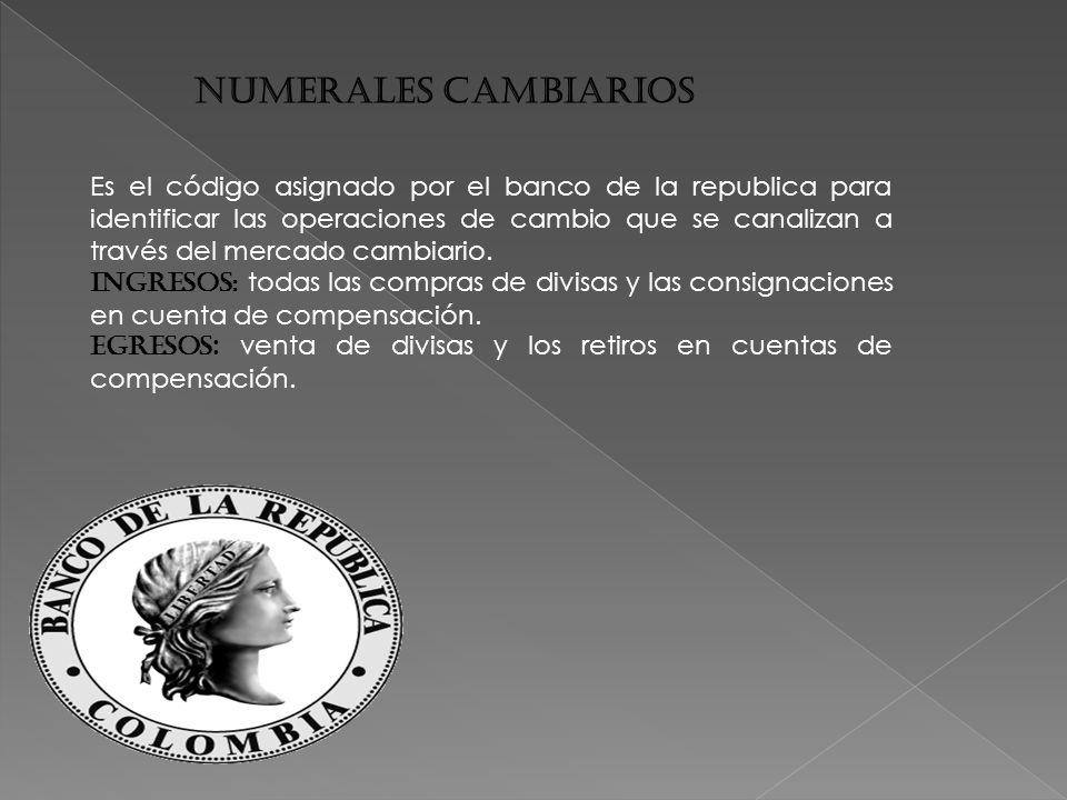 NUMERALES CAMBIARIOS