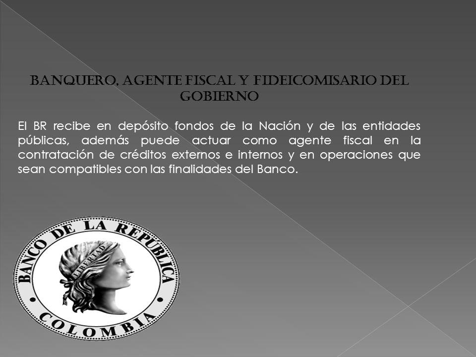 Banquero, agente fiscal y fideicomisario del Gobierno