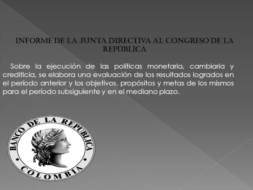 Informe de la Junta Directiva al Congreso de la República