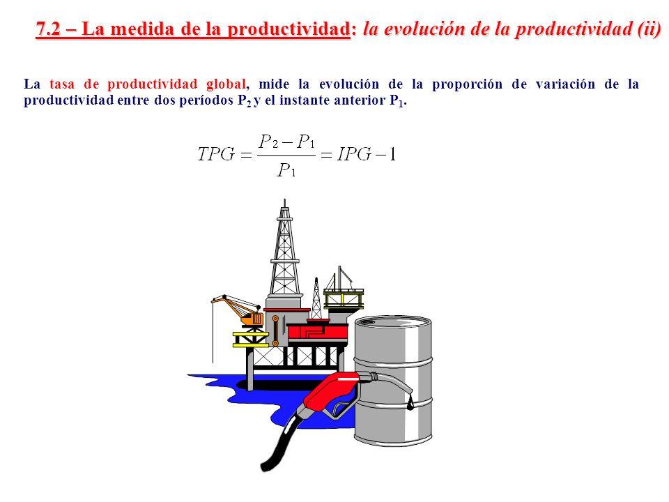 7.2 – La medida de la productividad: la evolución de la productividad (ii)