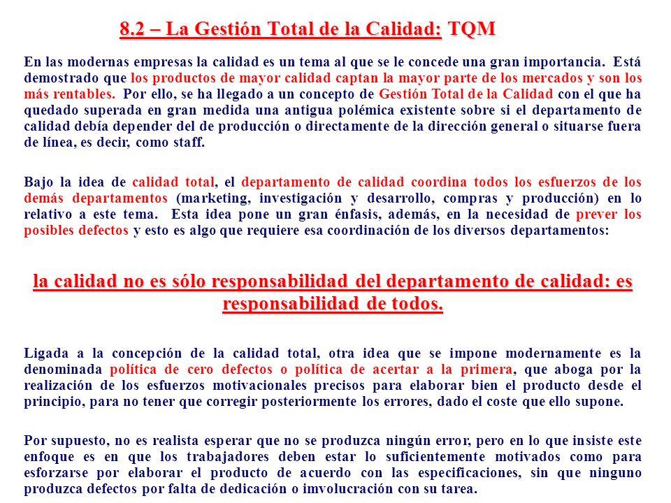8.2 – La Gestión Total de la Calidad: TQM