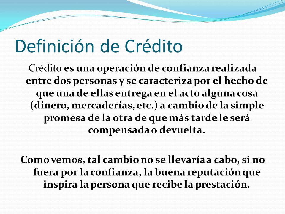 Definición de Crédito