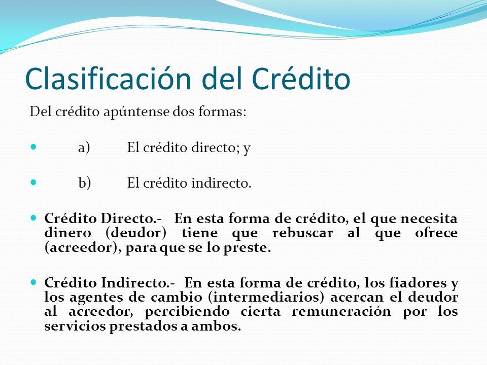 Clasificación del Crédito