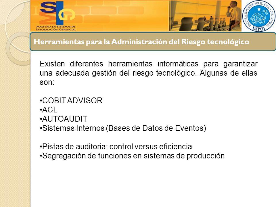 Herramientas para la Administración del Riesgo tecnológico