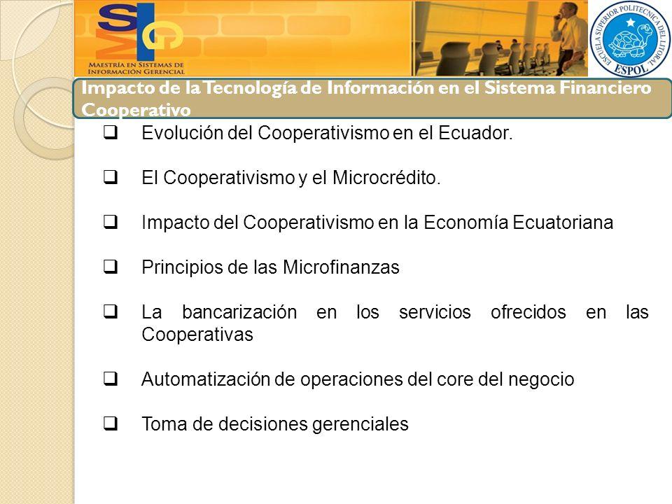 Impacto de la Tecnología de Información en el Sistema Financiero Cooperativo