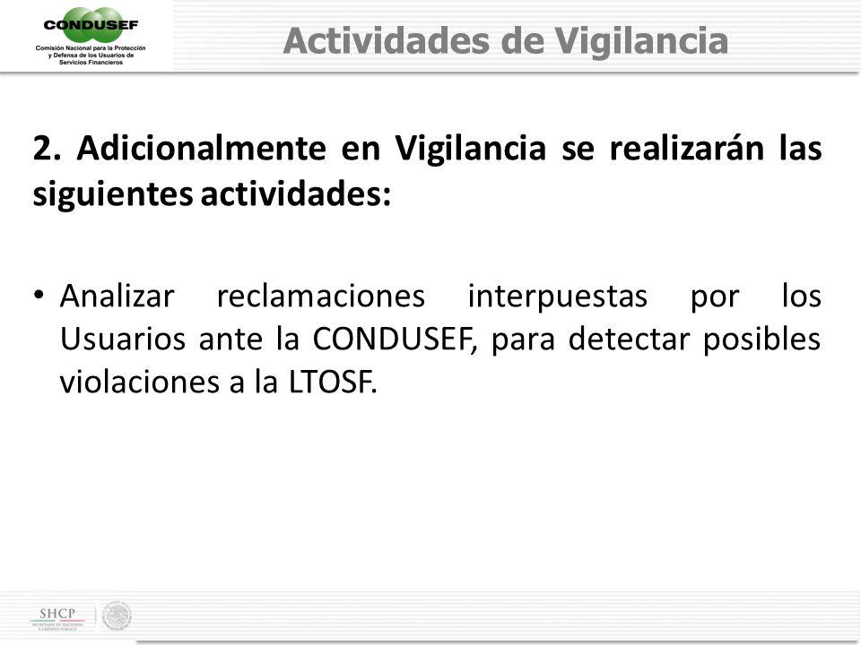 Actividades de Vigilancia