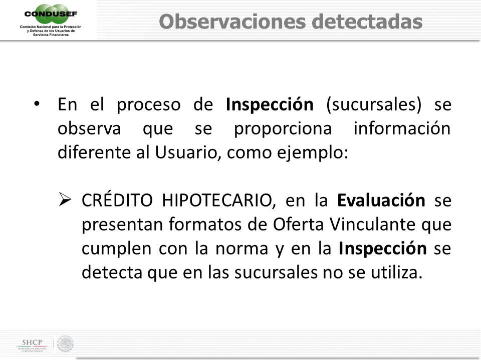Observaciones detectadas