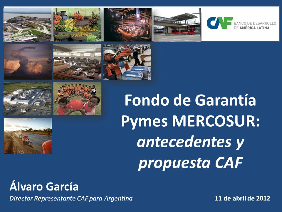 Fondo de Garantía Pymes MERCOSUR: antecedentes y propuesta CAF