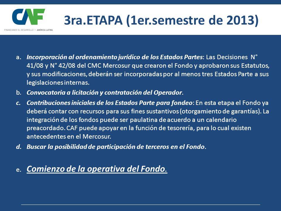 3ra.ETAPA (1er.semestre de 2013)
