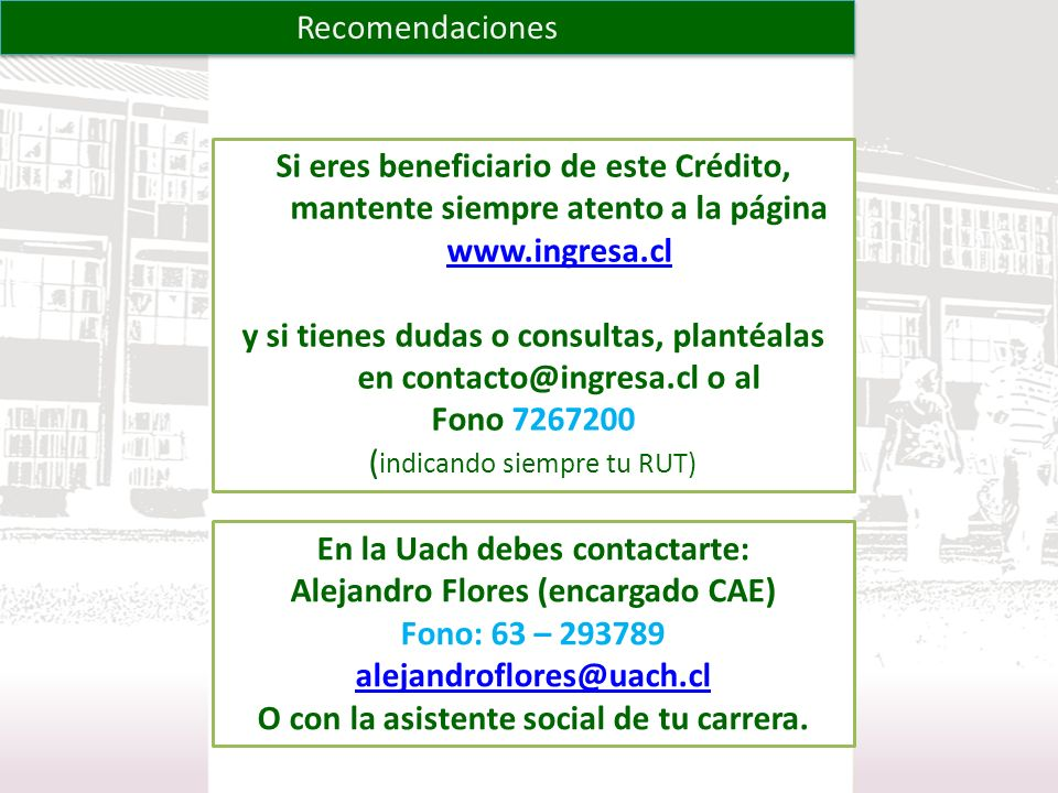 y si tienes dudas o consultas, plantéalas en contacto@ingresa.cl o al