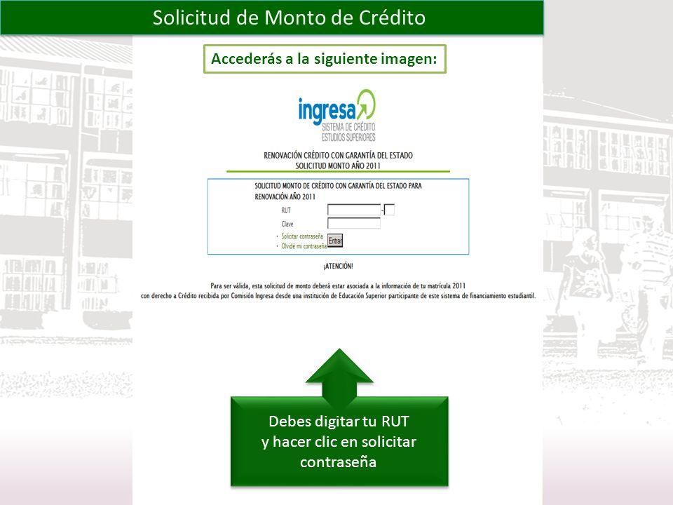 Solicitud de Monto de Crédito