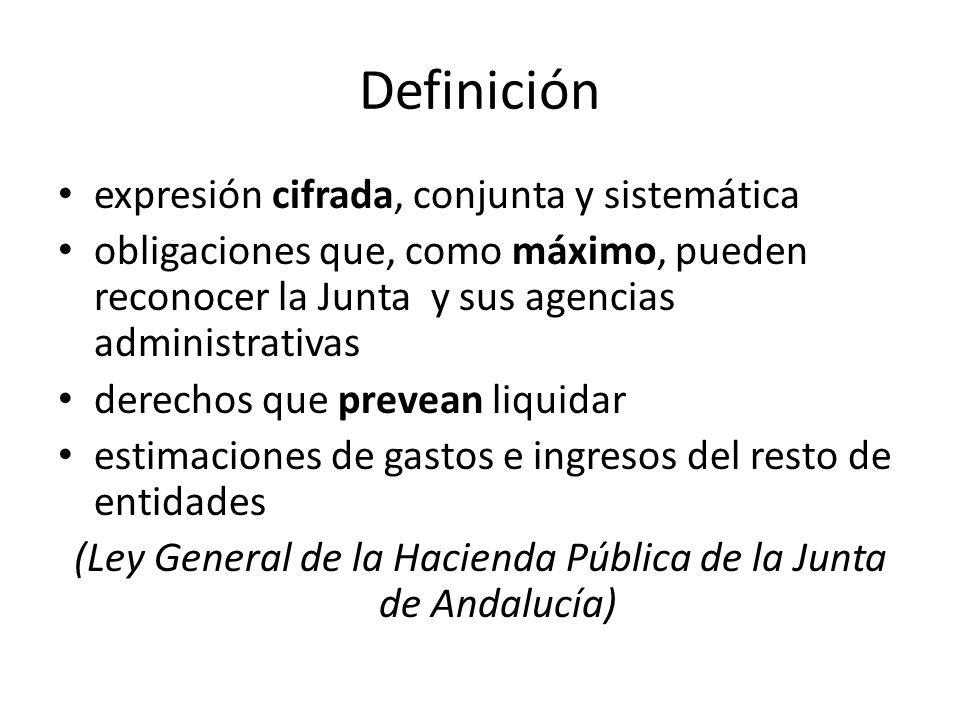 (Ley General de la Hacienda Pública de la Junta de Andalucía)