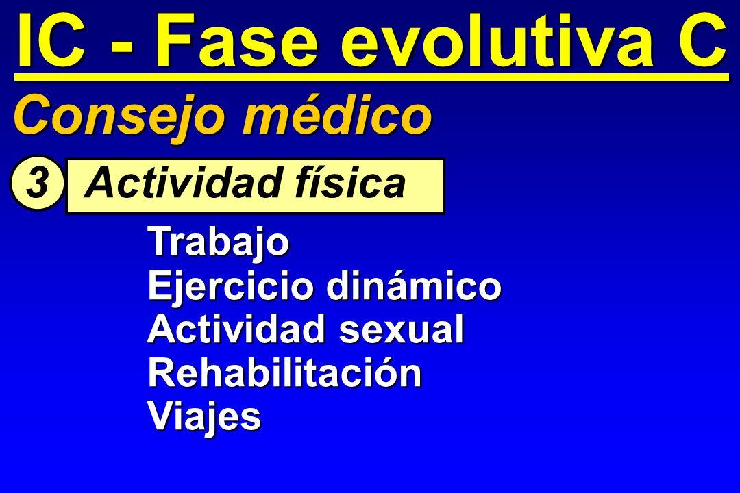 IC - Fase evolutiva C Consejo médico 3 Actividad física Trabajo