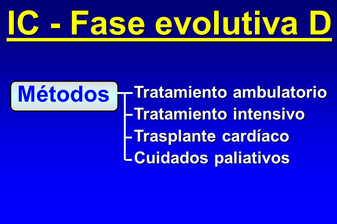 IC - Fase evolutiva D Métodos Tratamiento ambulatorio