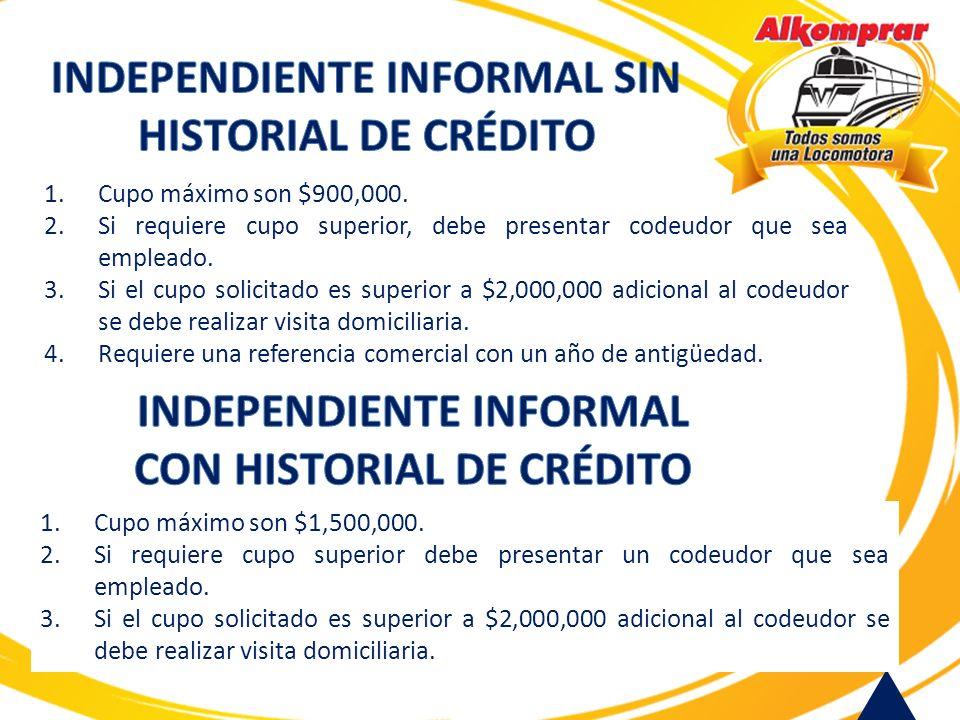 INDEPENDIENTE INFORMAL SIN HISTORIAL DE CRÉDITO