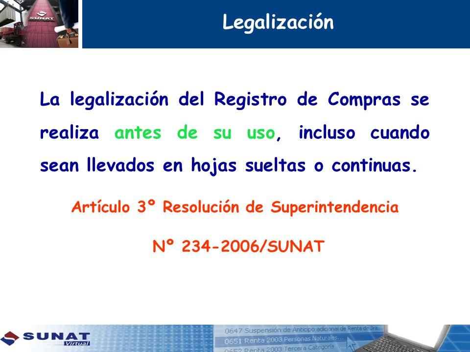 Artículo 3º Resolución de Superintendencia