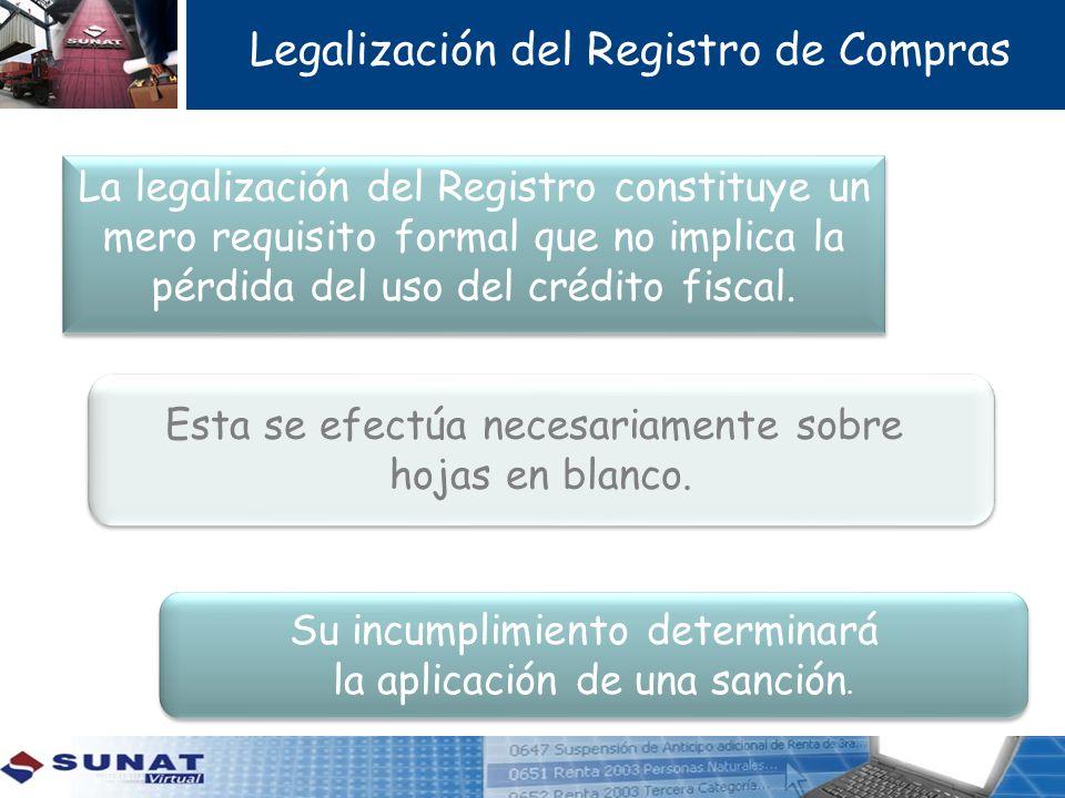 Legalización del Registro de Compras