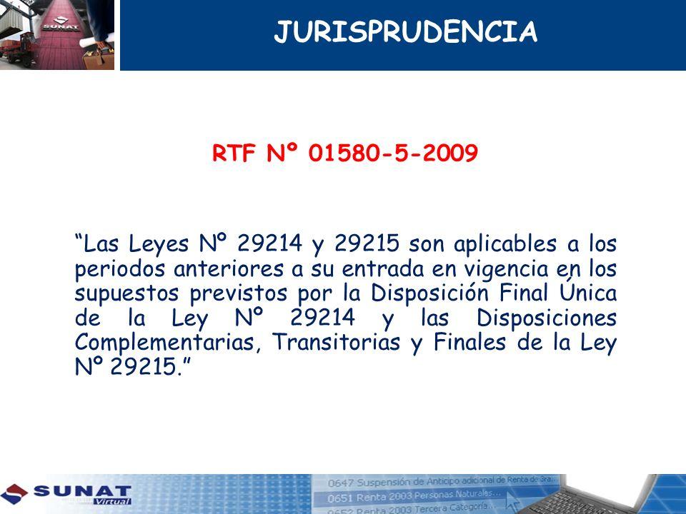 JURISPRUDENCIA RTF Nº 01580-5-2009