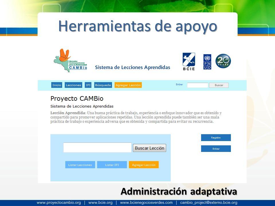 Herramientas de apoyo Administración adaptativa